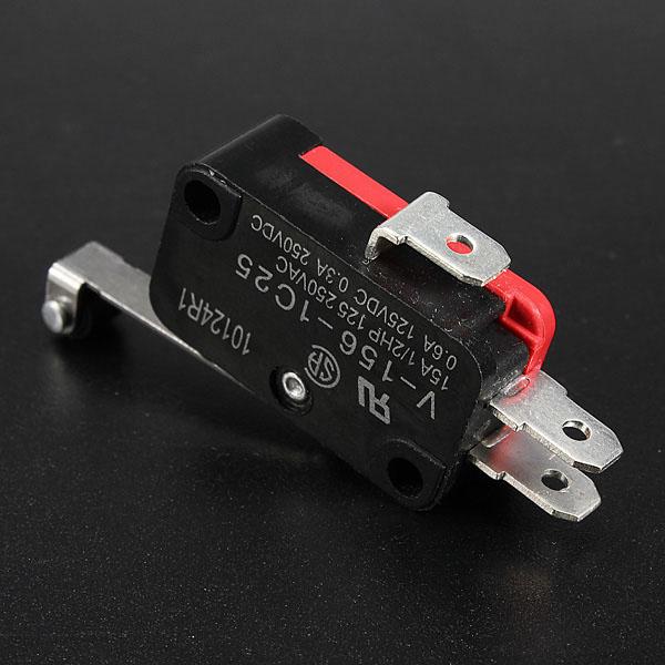 10st AC 250V 15A V-156-1C25 SPDT Roller Lever Micro Switch Arduino SCM & 3D-skrivare