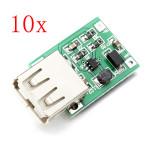 10stk DC-DC 0.9V-5V USB Udgang Oplader Step Up Power Modul Arduino SCM & 3D-printer