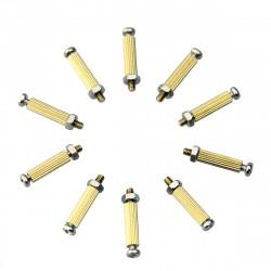 10st DIY 11mm Koppar Cylinder + Skruv + Mutter Kits