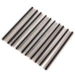 10 Pcs DIY 40 Pin 2.0mm Double Row Straight Pin Header For Arduino