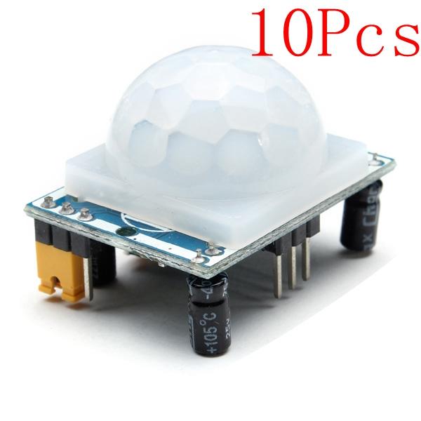 10stk HC-SR501 Menneskelig Infrarød Sensor Modul Herunder Lens Arduino SCM & 3D-printer