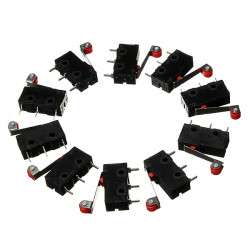 10Pcs KW12-3 Micro Limit Switch Roller Lever 5A 125V Open/Close Switch