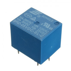 10stk Mini 5V DC Power Relay SRD-5VDC-SL-C 5 Pin PCB Type