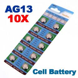 10 x AG13 LR44 G13 A D303 L1154 L1154F Alkaline Knopfzelle