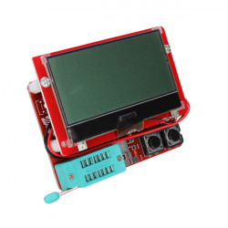 12864 LCD Mega328 Transistor Tester Kapacitans ESR Meter Diod Trioden MOS / PNP LCR