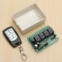12V 4CH Channel 315Mhz Wireless Remote Control Switch Transceiver Receiver
