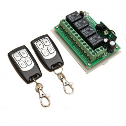 12V 4CH Channel 315Mhz Wireless Remote Control Switch With 2 Transimitter