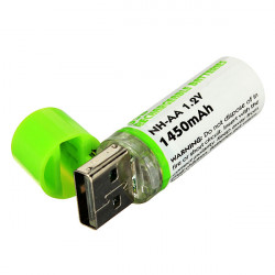 1450mAh 1.2V USB Rechargeable AA NiMh Battery