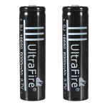 18650 3.7V Li-ion Rechargeable Battery For Flashlight Black Torch Batteries & Chargers