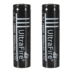 18650 3.7V Li-ion Rechargeable Battery For Flashlight Black Torch
