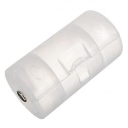 1 AA till D Mått Batterihållare Fodral Adapter Konverter Shell
