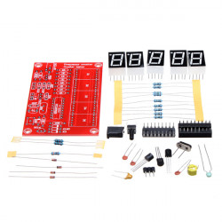 1Hz-50MHz Kristalloscillator Fem LED-display Frekvens Meter Kit