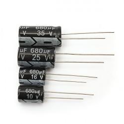 1st 10V 16V 25V 35V 680uF Radiell Elektrolytkondensator