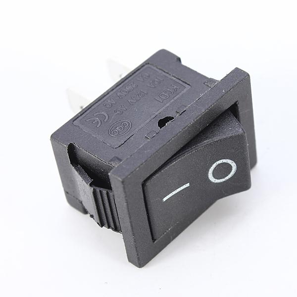 1st 2pin Snap-in On / Off Vippreglage Svart Arduino SCM & 3D-skrivare