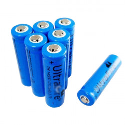 1pc Led Flashlight Strong Charge 14500 1200mAH Lithium Battery 3.7V