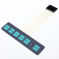 1 X 6 Key LED Matrix Membrane Switch Keyboard Styrkort