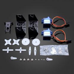 2 9G Servon Konsol Sensor Motor & Hållare Kit