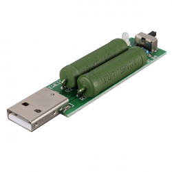 2A 1A USB Interface Mini Discharge Load Resistor With Switch
