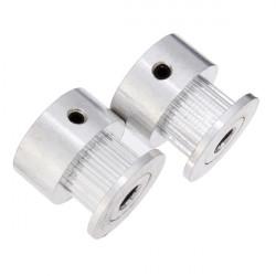 2stk 2GT-20 Tænder Tandremskive Wheel 5mm 8mm Inner for 3D Printer