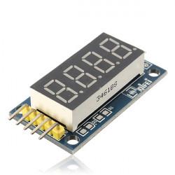 2st 4 Bitar Digital Tub LED-display Modul Kort med Klocka för Arduino