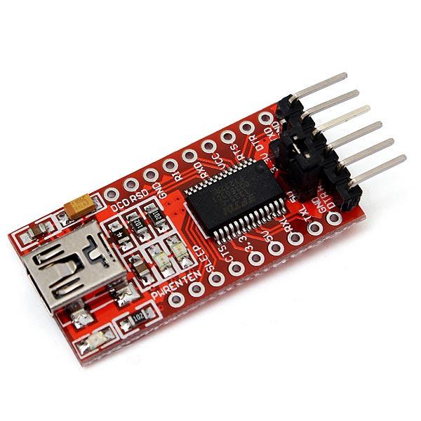 2stk FT232RL FTDI USB til TTL Serial Konverter Adapter Modul for Arduino Arduino SCM & 3D-printer