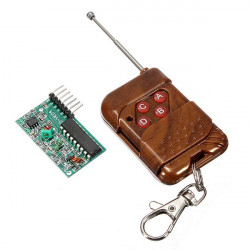 2Pcs IC2272 315MHz 4 Channel Wireless RF Remote Control Transmitter Receiver Module