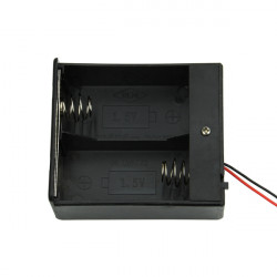 2 Slot D Size 3V Battery Power Holder Case With Wire And Switch