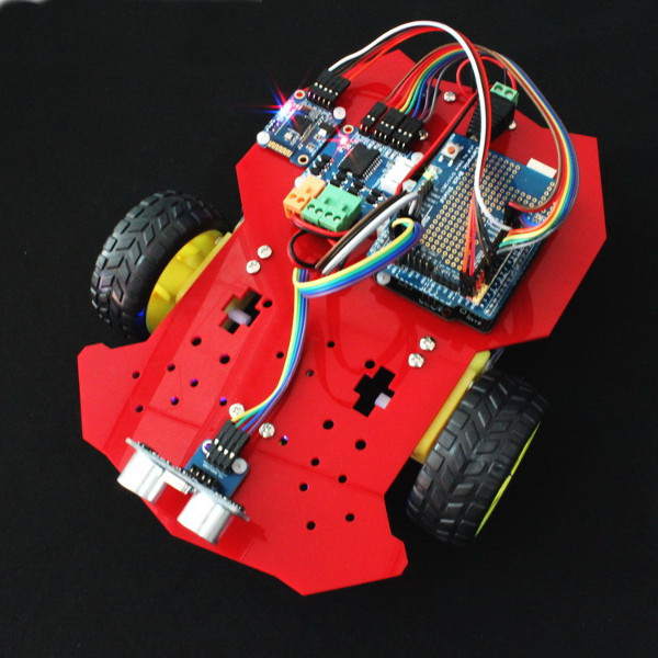2WD Arduino Compatible Smart Robot Car Kit Bluetooth Line Tracing Arduino SCM & 3D Printer Acc