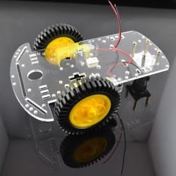2WD Smart Robot Bilens Hastighet Detektering Chassi Kit med 20 Grid Encoder för Arduino