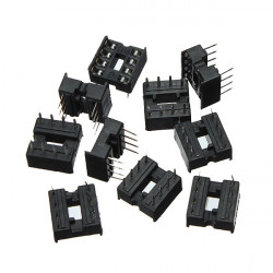 30stk 8 Pin DIP IC Buchse Adapter Solder Typ Sockel Dual Kontakt Wischen