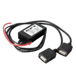 3A 15W DC 12V til DC 5V Dual USB Power Oplader Adapter Konverter Modul