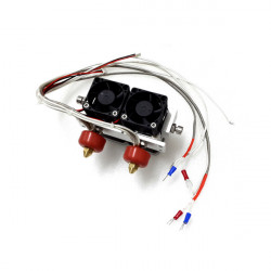 3D Printer Extruder Thermocouple Double Nozzle Printing Head