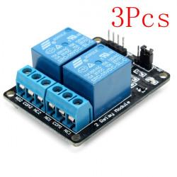 3stk 2 Vejs Relæ Modul med Optocoupler Protection