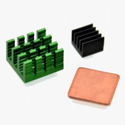 3stk Aluminium Kühlkörper Ausrüstung mit Coppor für Raspberry Pi 2 Modell B