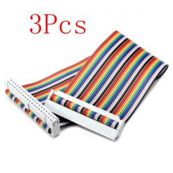 3Pcs GPIO 40P Rainbow Ribbon Cable For Raspberry Pi 2 Model B&B+
