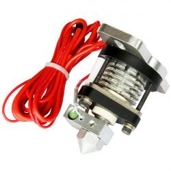 3mm Tråd V2.0 Hotend Extrusionshuvudet Två 0.35-0.5mm Munstycke för 3D-skrivare RepRap