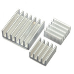 3pcs Adhesive Aluminum Heat Sink Cooler Kit For Cooling Raspberry Pi Arduino SCM & 3D Printer Acc