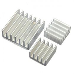 3st Adhesive Aluminium Kylfläns Cooler Kit för Kylning Raspberry Pi