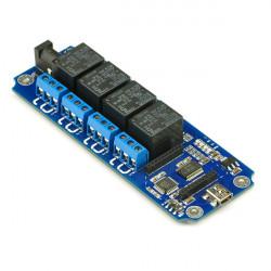4 Channel Trådlös USB-Kontroll Relämodul Support Zigbee Bluetooth WiFi Kontroll