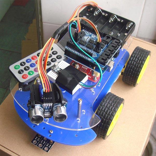 4 i 1 Smart Car Kit Tracking Hindring Undgåelse Fall Forebyggelse Telekontrol for Arduino Arduino SCM & 3D-printer