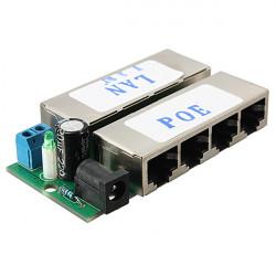 4 Port PoE Power over Ethernet Injector Modul für IP Kamera