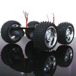 4WD Smart Robot Bil Chassi Kits Metallmotor Stort Vridmoment för Arduino