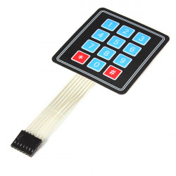 4 x 3 Matrix 12 Key Array Membranschalter Tastatur Tastatur für Arduino