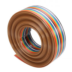 5M 1.27mm 20P DuPont Kabel Rainbow Flat Line Support Wire Loddet