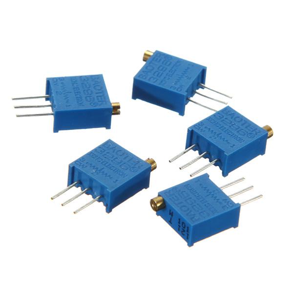 5st 100ohm 3296W 3296 Trimpotentiometer Variabel Resistor Arduino SCM & 3D-skrivare