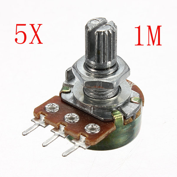 5st 200V 0.2W 1M Ohm Potentiometer Single Linjär Arduino SCM & 3D-skrivare