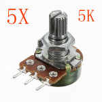 5st 200V 0.2 W 5K Ohm Potentiometer Single Linjär Arduino SCM & 3D-skrivare