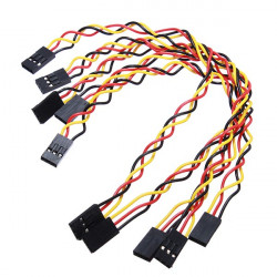 5 Pcs 3 Pin 20cm 2.54mm Jumper Wire Cables DuPont Line For Arduino