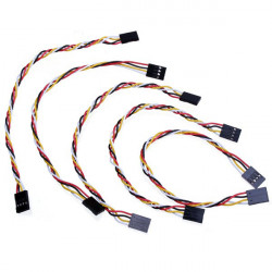 5stk 4 Pin 20cm 2.54mm Jumper Wire Kabler DuPont Linje for Arduino