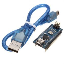 5st ATMEGA328P Arduino Kompatibel Nano V3 Förbättrad Version med USB-kabel